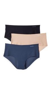 Комплект из трех пар трусиков Invisibles с низкой талией Calvin Klein