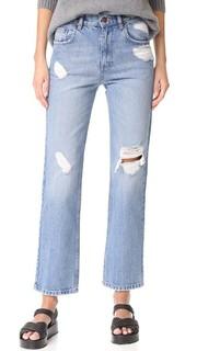 Джинсы с потертостями в винтажном стиле Anine Bing