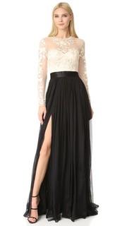 Кружевное вечернее платье с вышивкой Isha Catherine Deane