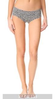 Невидимые трусики с низкой талией и принтом Calvin Klein