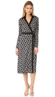 Платье-халат с принтом и D-образным кольцом Diane von Furstenberg