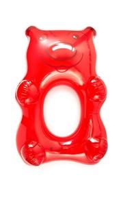 Большой резиновый надувной матрас в форме медведя красного цвета Gift Boutique