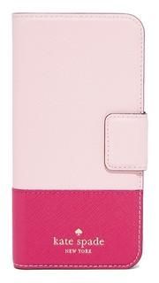 Кожаный чехол-книжка для iPhone 7 Kate Spade New York
