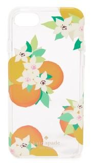Чехол для iPhone 7 с апельсинами и цветами Kate Spade New York
