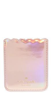 Клейкий карман для мобильного телефона с зубчатым краем Kate Spade New York