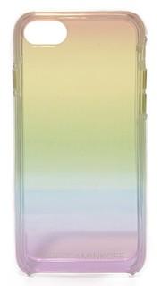 Прозрачный чехол для iPhone 7 с радужной отделкой с эффектом «омбре» Rebecca Minkoff