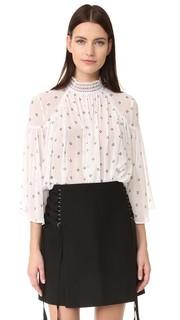 Блуза из ткани оксфорд Acler