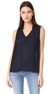 Плиссированная блуза без рукавов Frame