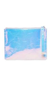 Плоская потрескавшаяся сумочка с голограммой Kara