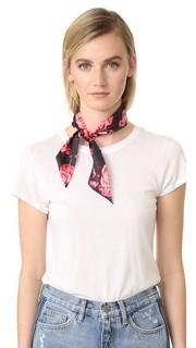 Узкий шелковый шарф Rosa Kate Spade New York