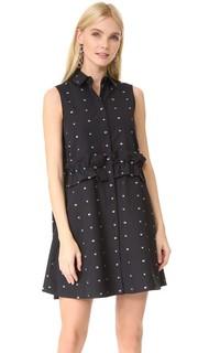 Платье-рубашка с оборками McQ Alexander Mc Queen