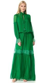 Макси-платье с длинными рукавами Roberto Cavalli