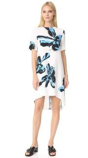 Платье с принтом и короткими рукавами Cedric Charlier