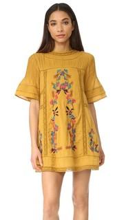 Викторианское мини-платье Perfectly с вышивкой Free People