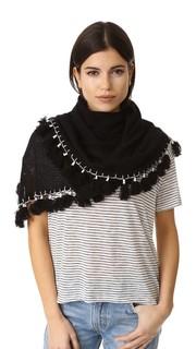 Кашемировый треугольный шарф с кисточками White + Warren