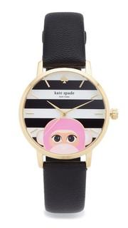 Часы Novelty с кожаным ремешком Kate Spade New York
