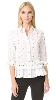 Рубашка с оборками и баской McQ Alexander Mc Queen