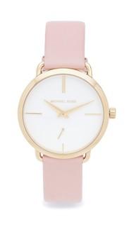 Часы Partia с кожаным браслетом Michael Kors