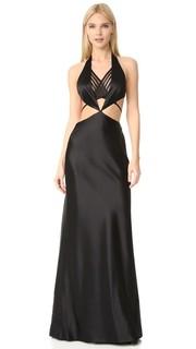Вечернее платье с открытой спиной и видимым бикини Alexander Wang