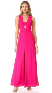 Вечернее платье с V-образным декольте и вырезами Jill Jill Stuart