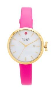 Часы Park Row с кожаным ремешком Kate Spade New York