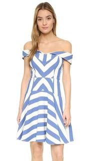 Платье Mariella с графическим рисунком в полоску Milly