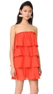 Многоуровневое платье Candy с оборками Red Carter