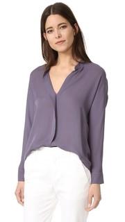 Шелковая блуза с двойным передом Vince