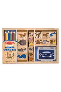 Большой набор печатей Животные Melissa & Doug