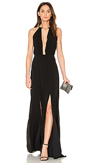 Plunging v maxi dress - ANIMALE