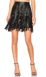 Мини-юбка с бахромой clover - n:PHILANTHROPY