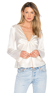 Silk tie front long sleeve top - T by Alexander Wang