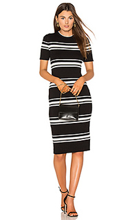 Stripe rib sweater midi dress - MINKPINK