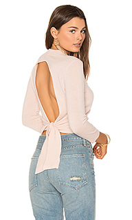 Tie back crop sweater - Autumn Cashmere