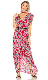 Etched floral wrap dress - Splendid