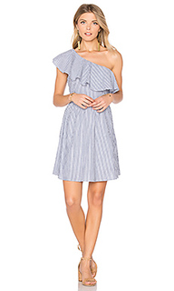 One shoulder stripe mini dress - J.O.A.