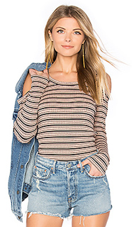 Stripe cut out top - MONROW