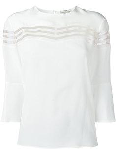 блузка с прозрачными полосами Fendi