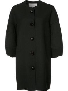 пальто свободного кроя на пуговицах  Carolina Herrera