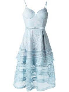 платье с полупрозрачной кружевной отделкой Self-Portrait