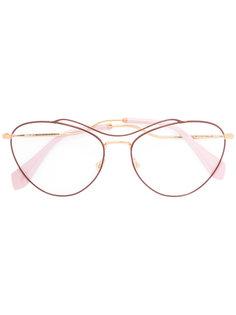 oversized frames Miu Miu Eyewear
