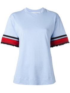футболка с декорированными рукавами Victoria Victoria Beckham