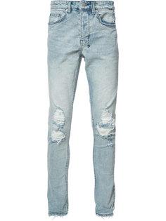 джинсы скинни с рваными деталями Ksubi