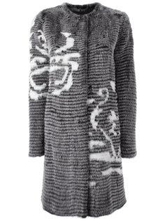 кашемировое однобортное пальто Liska