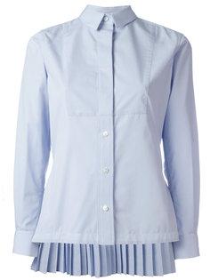 рубашка с плиссировкой Sacai