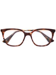 очки в оправе под черепаховый панцирь Prada Eyewear