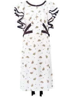 платье с принтом шляп Dorothee Schumacher