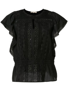 блузка с короткими рукавами и оборками Vanessa Bruno