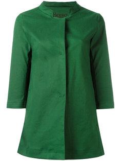 пальто с воротником-стойкой Herno