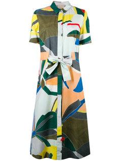 платье-рубашка с абстрактным принтом Erika Cavallini